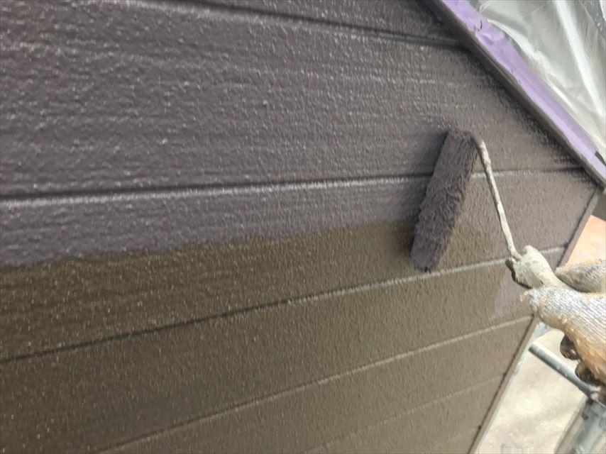 多治見市市之倉町外壁上塗り