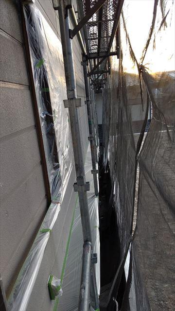 中津川市中津川で屋根外壁養生完成