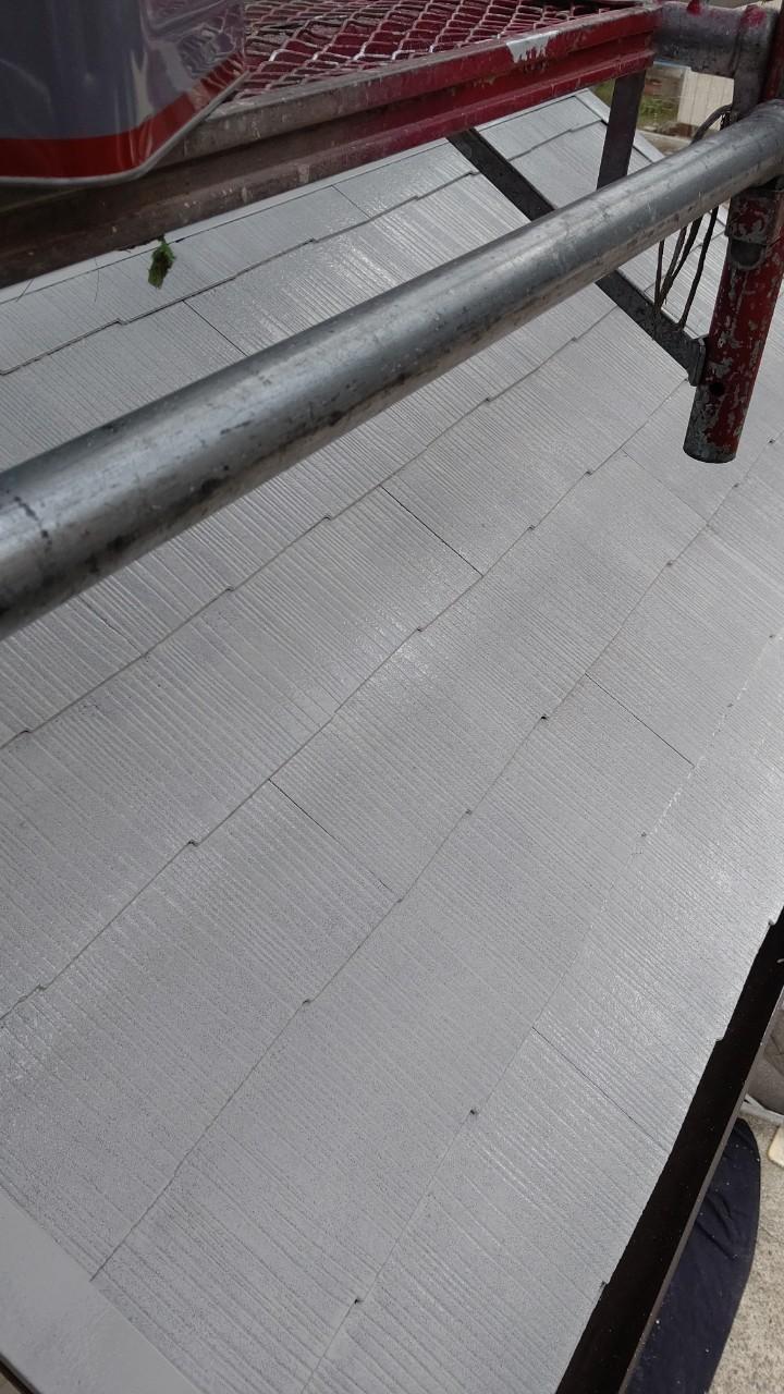 中津川市中津川で屋根外壁塗装屋根下塗り