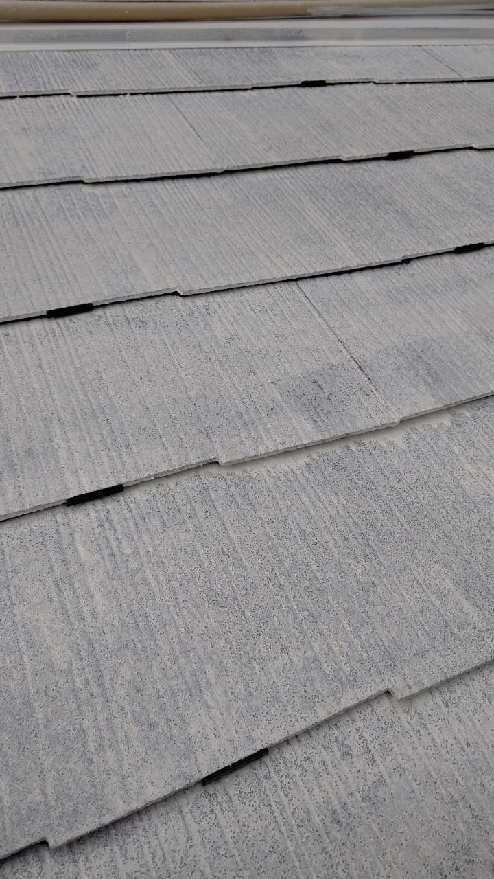 中津川市中津川で屋根外壁塗装屋根下塗りタスペーサー取り付け完了