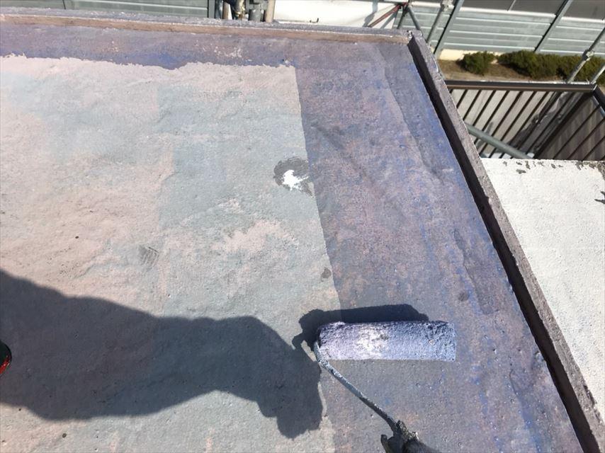 多治見市北丘町屋上屋根塗り替え
