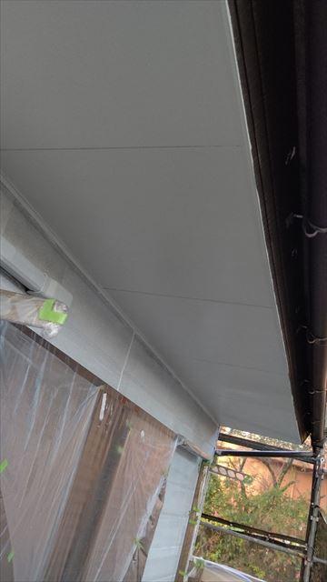 中津川市中津川で屋根外壁塗装軒天塗装2回目完成