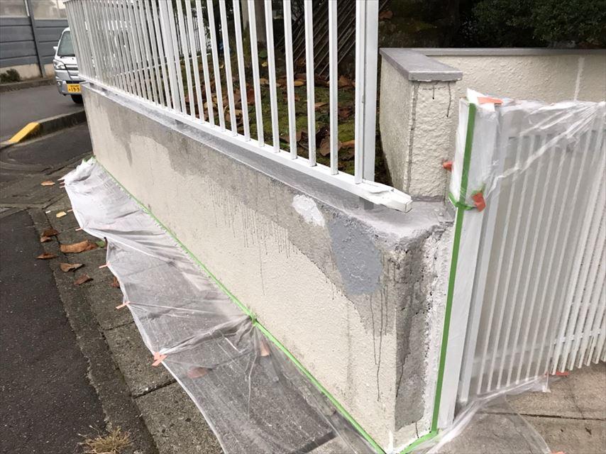 多治見市北丘町塀膨れにくい塗料