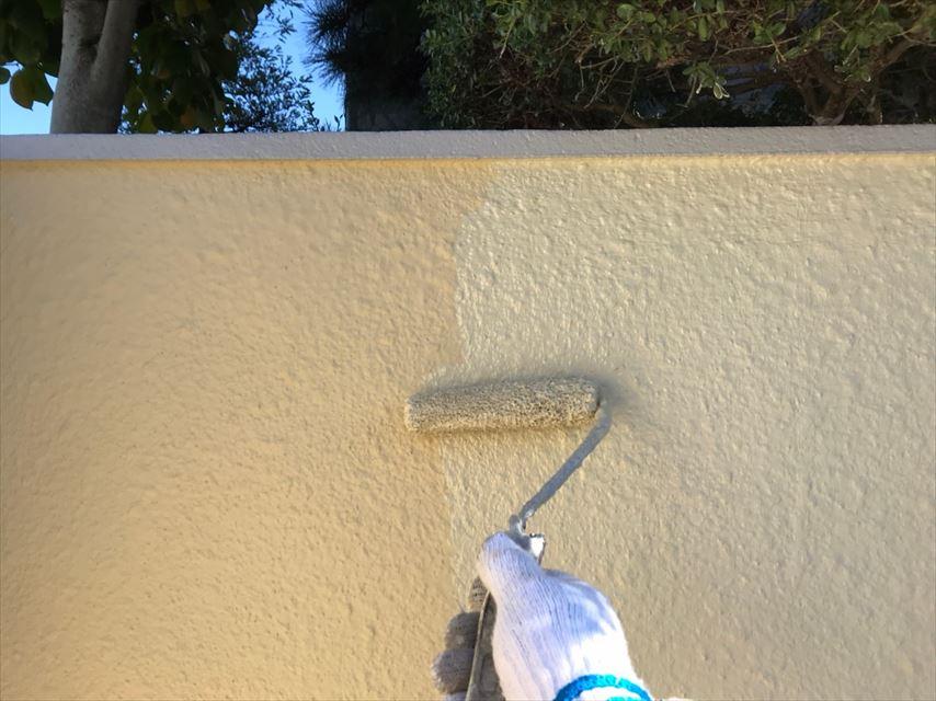 多治見市北丘町塀専用塗料