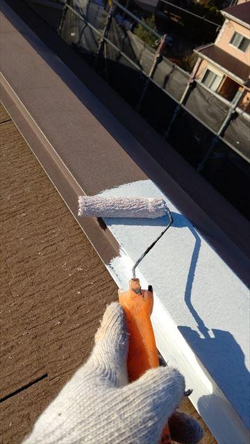 多治見市小名田町で屋根棟板金塗装