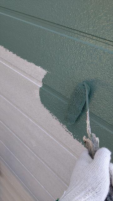 中津川市中津川で屋根外壁塗装外壁中塗り