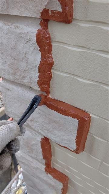 多治見小名田町外壁塗装ポイント部分