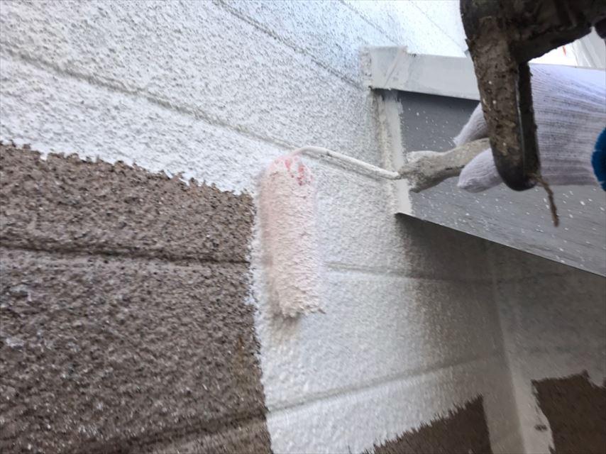 多治見市市之倉町外壁珍しい下塗り