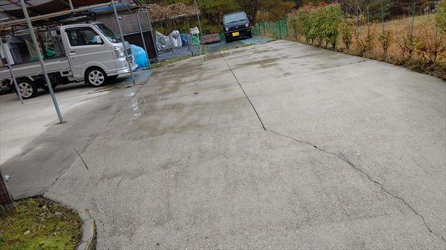 瑞浪市陶町で駐車場の高圧洗浄