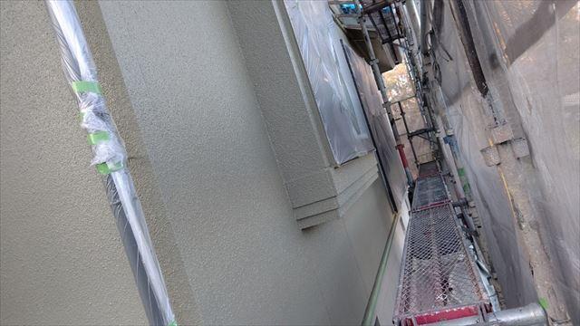 瑞浪市陶町で外壁塗装上塗り