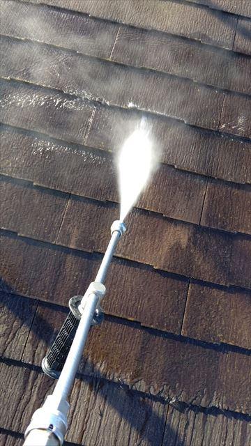多治見市小名田町で屋根バイオ洗浄