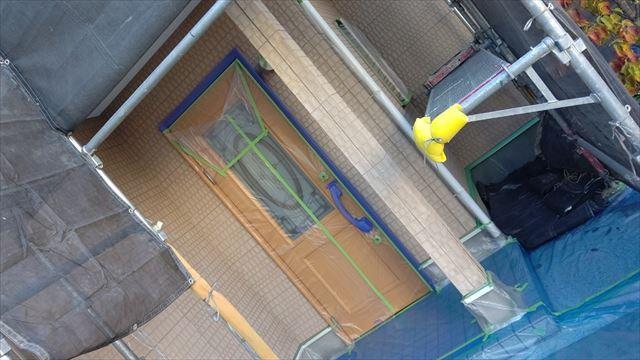 多治見市小名田町で屋根外壁塗装養生完成