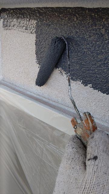 多治見市滝呂町で屋根外壁塗装外壁中塗り