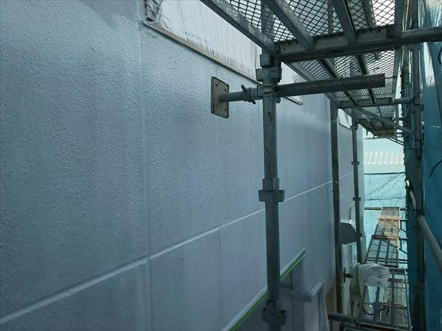 恵那市で外壁塗装下塗り2回目