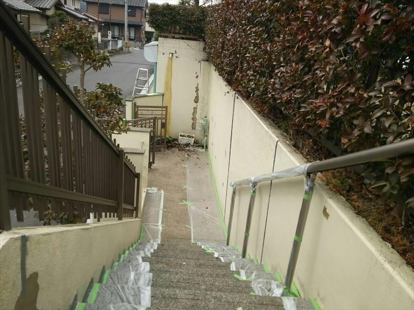 多治見市脇之島町塀塗り替え