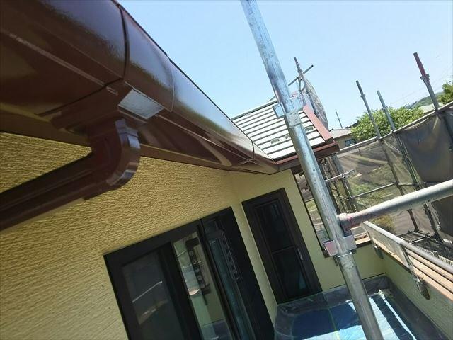 瑞浪市付帯部塗装 軒樋