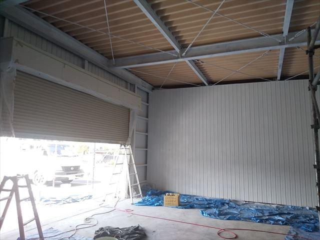 恵那市 恵那営業所 外壁塗装 内装塗り替え 下塗り