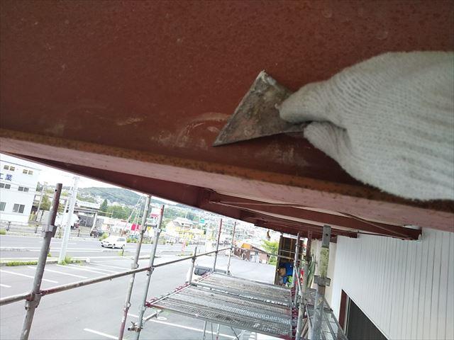 恵那市 恵那営業所 外壁塗装 鉄骨ケレン