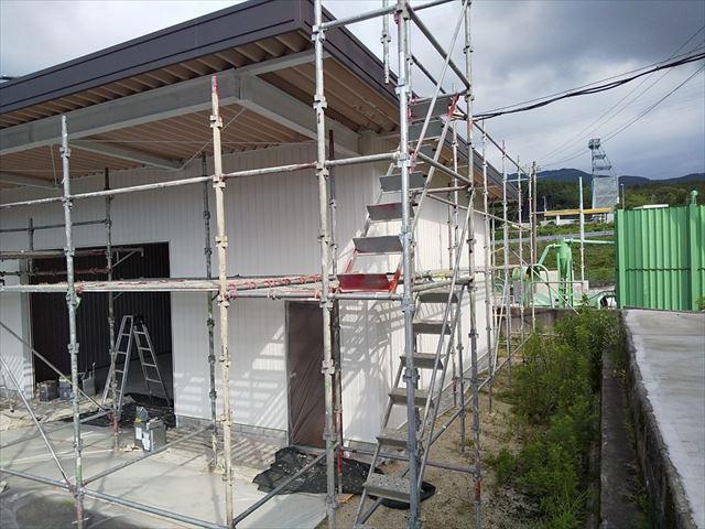 恵那市 恵那営業所 外壁塗装 破風塗装完了