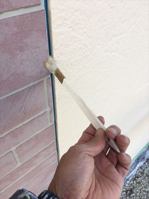多治見市小名田町 外壁塗装 目地撤去