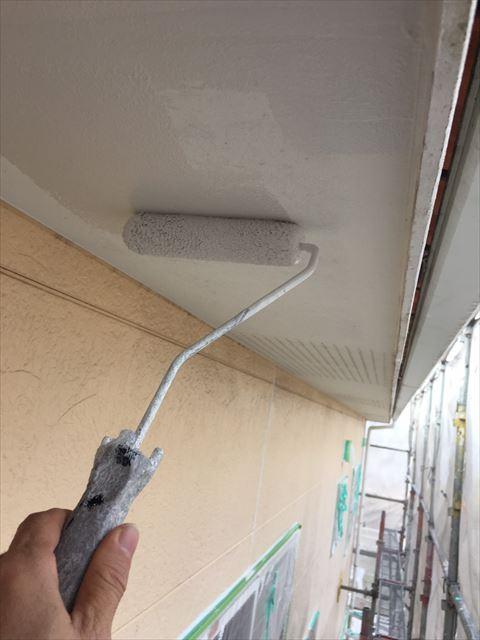 多治見市小名田町で外壁塗装 軒天塗装