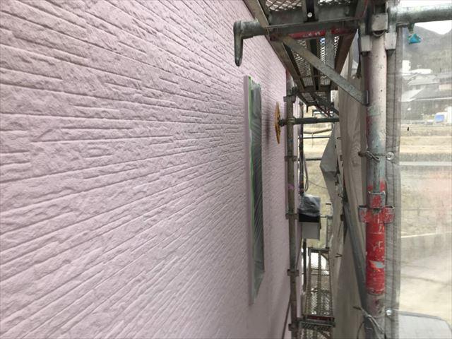 外壁の上塗り塗装、完了しました