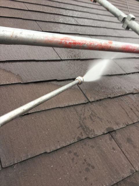 多治見市滝呂町でバイオ洗浄屋根外壁樋洗浄