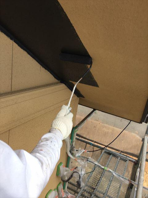 多治見市滝呂町で屋根外壁塗装工事軒天塗装
