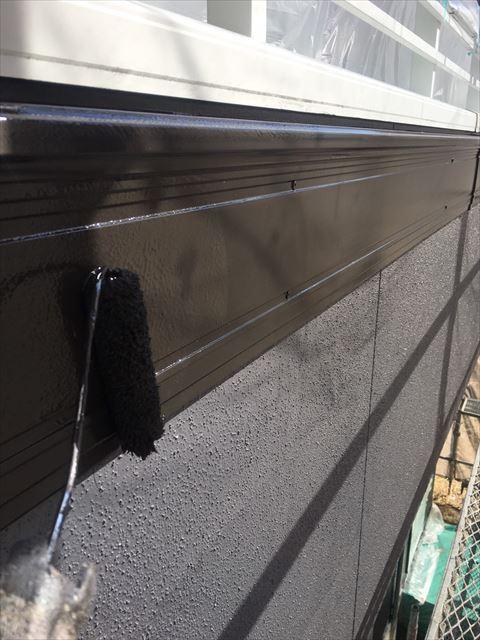 多治見市滝呂町で屋根外壁塗装工事幕板塗装