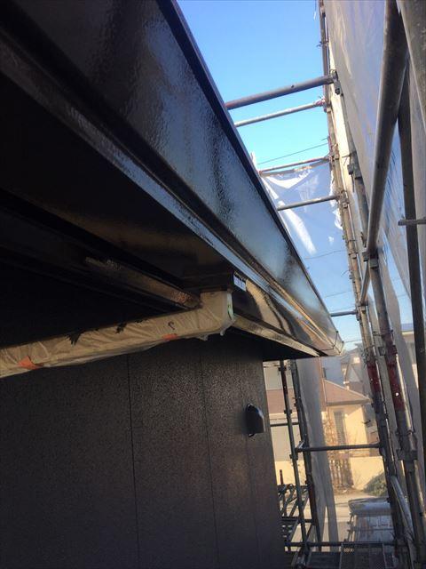 多治見市滝呂町で屋根外壁塗装工事軒樋塗装