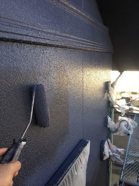 多治見市滝呂町 外壁塗装上塗り