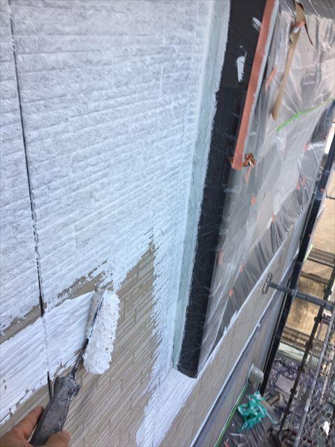 土岐市駄知町で外壁下塗り