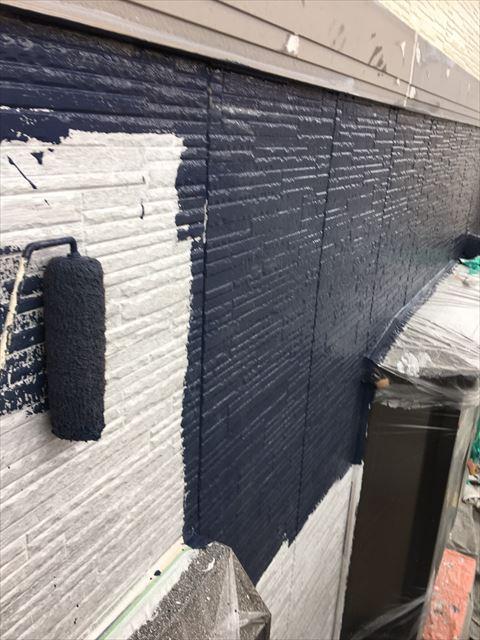 土岐市駄知町屋根外壁塗装外壁中塗り