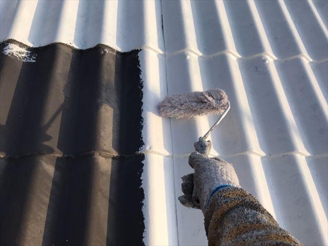 中津川市、屋根塗装洋瓦シーラー