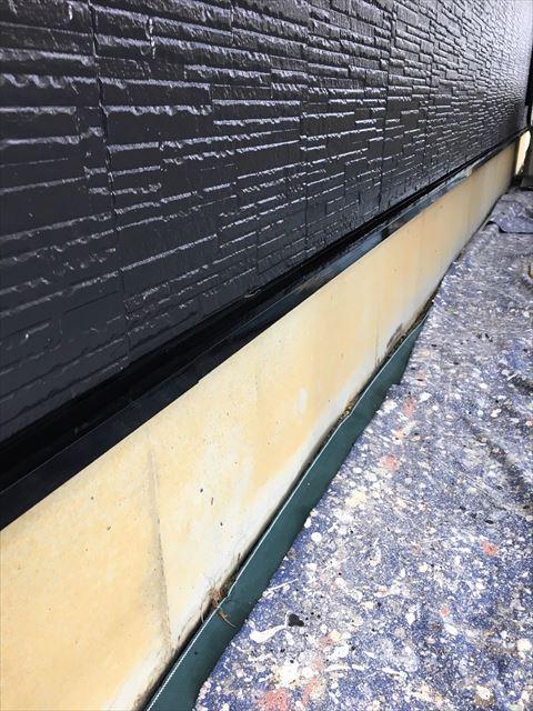 土岐市駄知町で水切り塗り替え工事