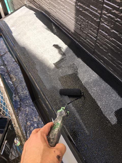 土岐市駄知町で小庇塗り替え工事