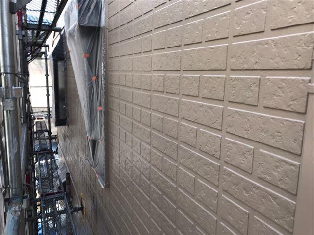 中津川市、外壁塗装上塗り完了