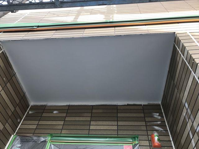 恵那市、玄関天井塗装