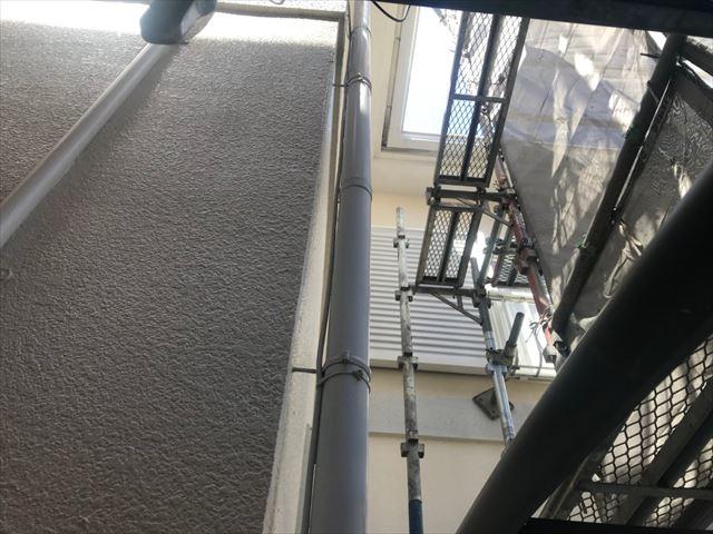 多治見市、ベランダ床の洗浄