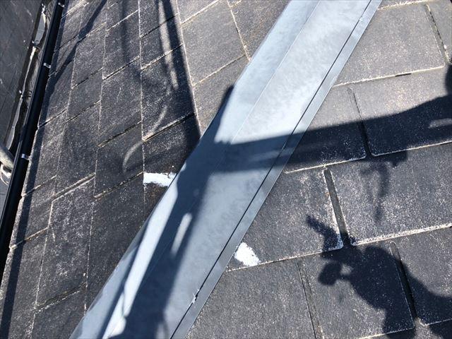 恵那市、屋根の下地コーキング補修