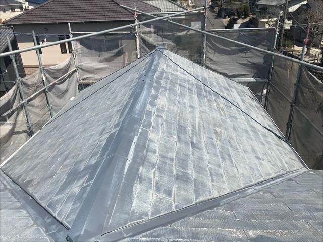 多治見市、屋根のバイオ洗浄