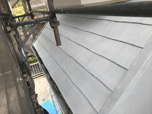 多治見市、屋根塗装下塗り1回目