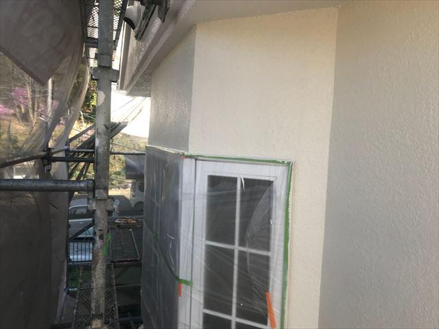 多治見市、上塗り外壁塗装
