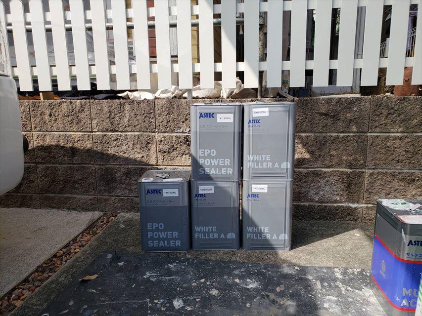 多治見市昭栄町外壁ホワイトフィーラーA