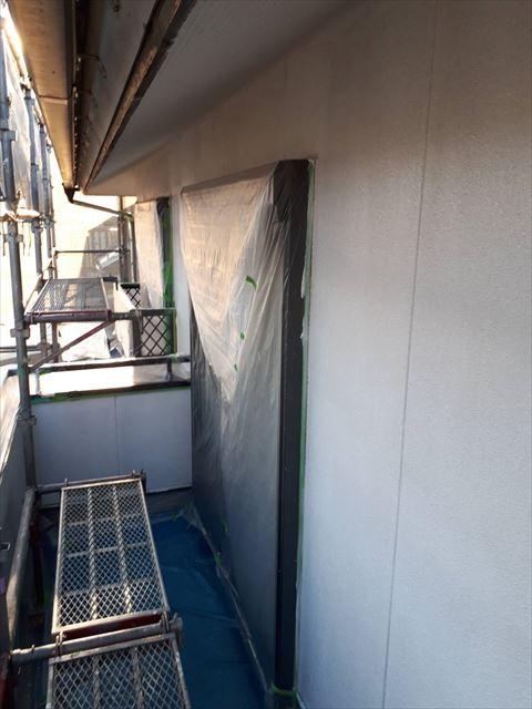 多治見市昭栄町外壁下塗り後