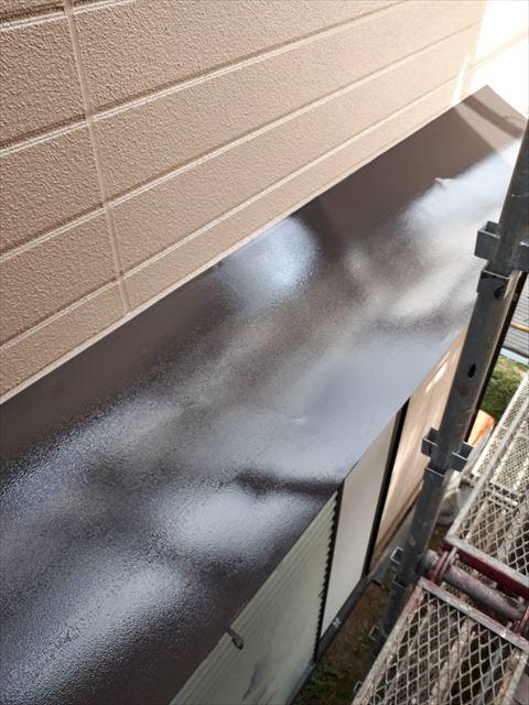 多治見市昭栄町小庇の天板塗り替え