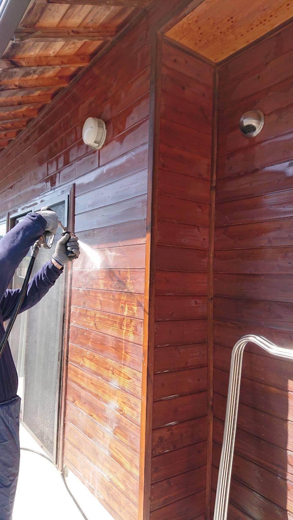 恵那市で高圧洗浄 外壁