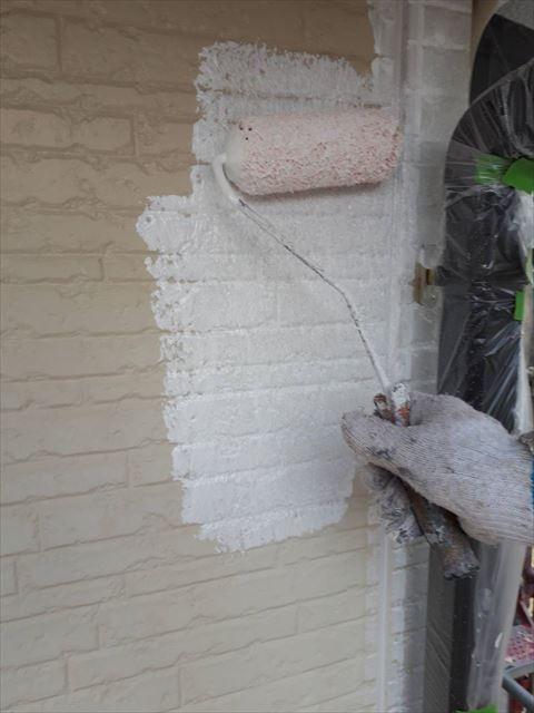 土岐市妻木町外壁ホワイトフィーラーA