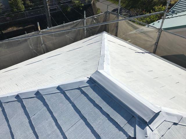 恵那市で屋根下塗り塗装