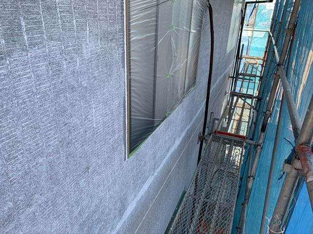 瑞浪市 外壁下塗り2回目
